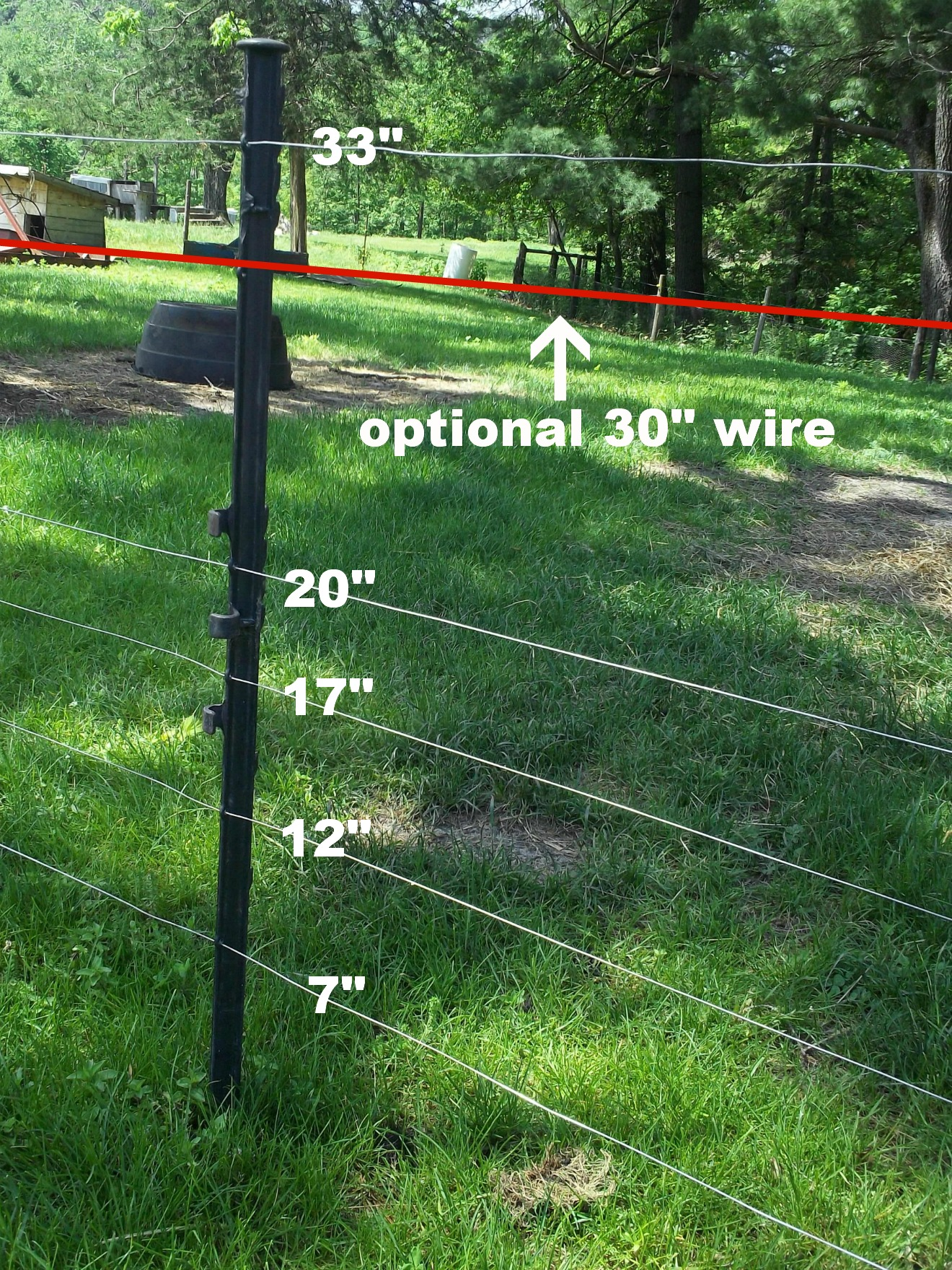 Goats Our Prairie Nest A Simple Life Page 2 The Fourwire Electric Fence System Allows Landowners To Control Deer Again Because This Paddock Was For Goat Kids As Opposed Adult We Had Free Posts At Disposal And Came Ready Stringing